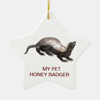 MY PET HONEY BADGER CHRISTMAS TREE ORNAMENTS