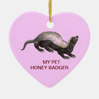 MY PET HONEY BADGER ORNAMENTS