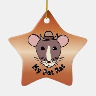 My Pet Rat Cowboy Ornaments
