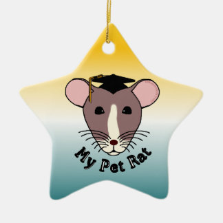 My Pet Rat (Graduate) Ceramic Star Decoration
