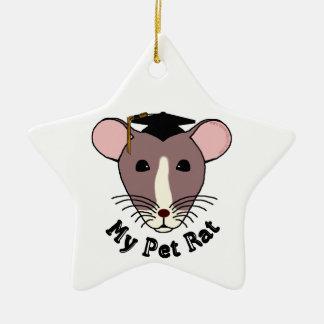 My Pet Rat Graduate Christmas Tree Ornament