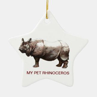 MY PET RHINOCEROS CHRISTMAS ORNAMENTS