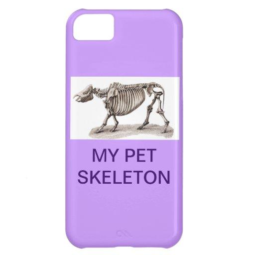 MY PET SKELETON iPhone 5C CASES