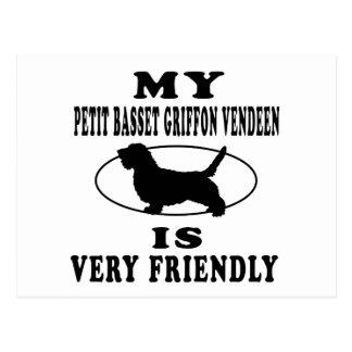 My Petit Basset Griffon Vendeen is very friendly Postcard