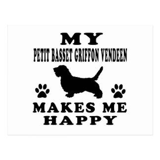 My Petit Basset Griffon Vendeen Makes Me Happy Postcard