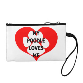 my poodle loves me coin purse