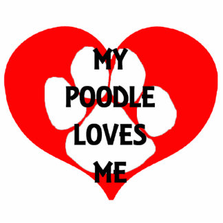 my poodle loves me photo sculpture key ring