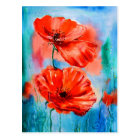 My Poppies in Bloom Postcard