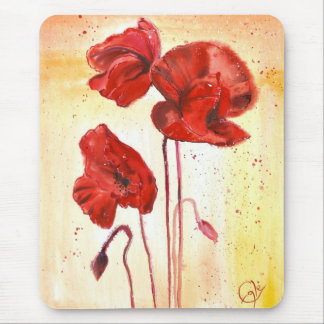 My Poppies in the Summer Mouse Pad