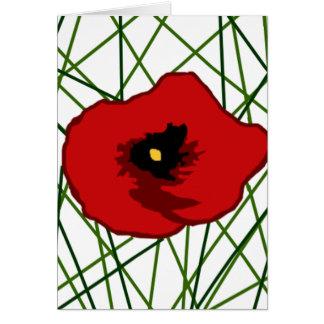 My Poppy flower blank card