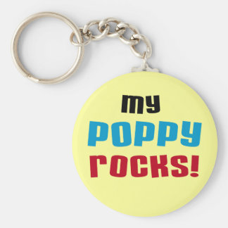 My Poppy Rocks T-shirts and Gifts Basic Round Button Key Ring