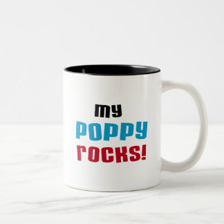 My Poppy Rocks T-shirts and Gifts Two-Tone Mug
