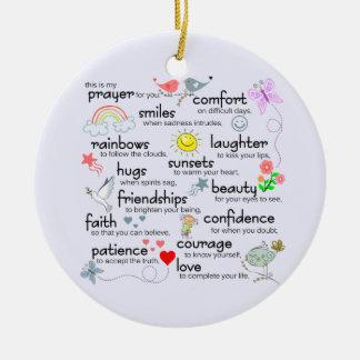 My Prayer For You Ceramic Ornament