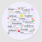 My Prayer For You Classic Round Sticker