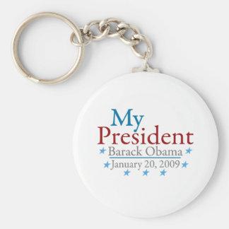My President (Barack Obama) Basic Round Button Key Ring