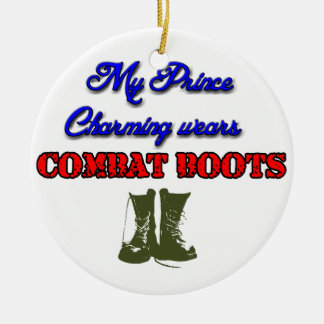 My Prince Charming Wears Combat Boots, Christmas Ceramic Ornament