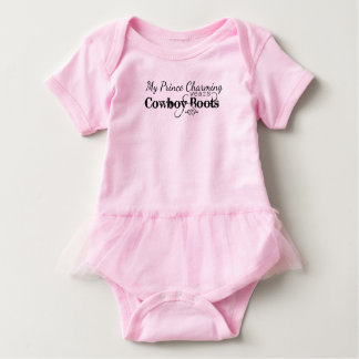 My Prince Charming wears Cowboy Boots Baby Bodysuit