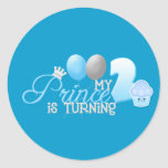 My prince is turning 2 classic round sticker