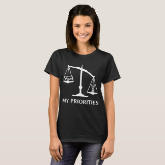 My Priorities Miniature Pinscher Tips Scale Art T-Shirt