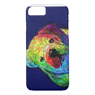 my psychedelic bulldog iPhone 8/7 case