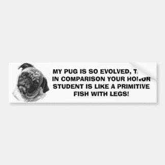MY PUG by nicola Bumper Sticker