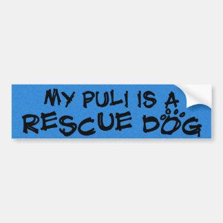 My Puli is a Rescue Dog Bumper Sticker