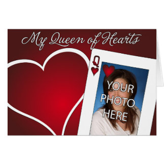 My Queen of Hearts - Poker Love Card