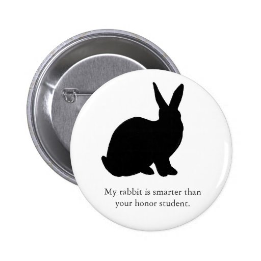 My Rabbit is Smarter Than Your Honor Student! Pinback Buttons
