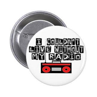 My Radio 6 Cm Round Badge