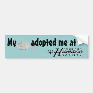 My rat adopted me at car bumper sticker