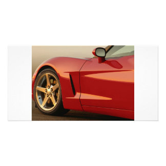 My Red Corvette Customised Photo Card
