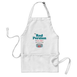 My Red Persian is All That! Funny Kitty Standard Apron