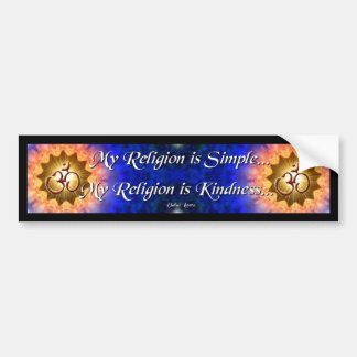 My Religiom is Simple Bumper Sticker