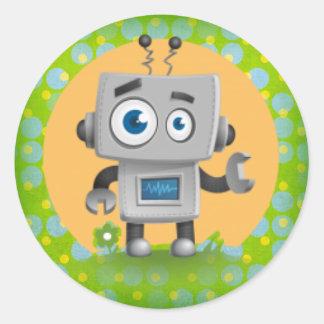 My Robot Sticker, Glossy Round Sticker