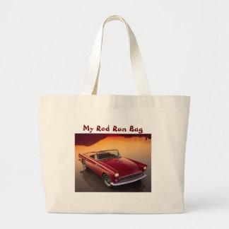 My Rod Run Bag, Red Jumbo Tote Bag