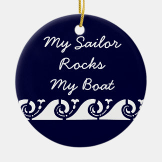 My Sailor Rocks my Boat Double-Sided Ceramic Round Christmas Ornament