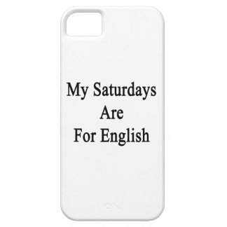My Saturdays Are For English iPhone 5/5S Covers