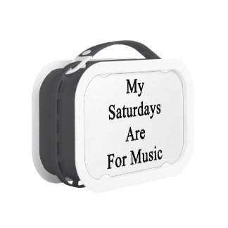 My Saturdays Are For Music Yubo Lunch Boxes