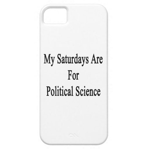 My Saturdays Are For Political Science iPhone 5 Case