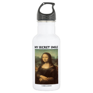 My Secret Smile (da Vinci's Mona Lisa) 532 Ml Water Bottle
