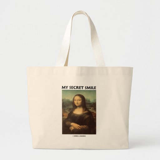 My Secret Smile (da Vinci's Mona Lisa) Canvas Bags