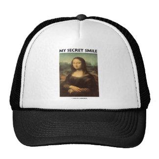 My Secret Smile (da Vinci's Mona Lisa) Hats