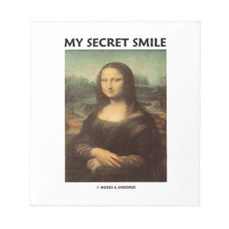 My Secret Smile (da Vinci's Mona Lisa) Memo Notepads