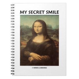My Secret Smile (da Vinci's Mona Lisa) Spiral Notebook