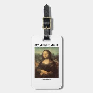 My Secret Smile (da Vinci's Mona Lisa) Tags For Luggage