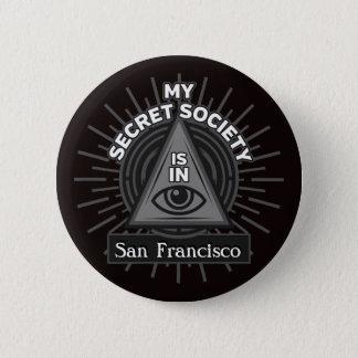 My Secret Society Is In (Any City) Illuminati 6 Cm Round Badge