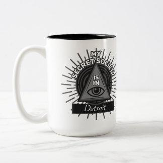 My Secret Society Is In (Any City) Illuminati Two-Tone Coffee Mug