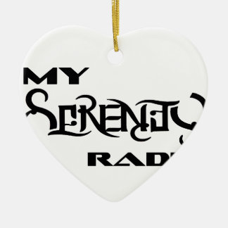 My Serenity Radio Products Support Vets Ceramic Heart Decoration