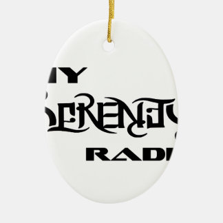 My Serenity Radio Products Support Vets Ceramic Oval Decoration