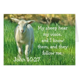 My Sheep Hear My Voice, Bible John 10:27, Custom Card